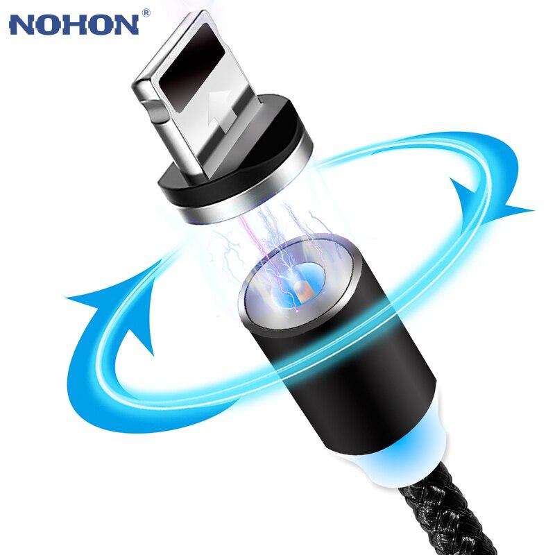 Магнитный зарядный кабель NOHON Micro USB Type C, быстрое зарядное устройство для Xiaomi Samsung 3 в 1, магнитный 8pin кабель для iOS iPhone iPad|Кабели для мобильных телефонов|   | АлиЭкспресс