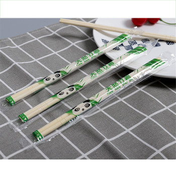 100 par jednorazowe pałeczki z drewna bambusowego restauracja pojedynczy pakiet pałeczki do jedzenia Hashi Sushi Food Stick zastawa stołowa tanie i dobre opinie CN (pochodzenie) Bambusa pulpy