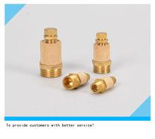 Silenciador ajustável pneumático de bronze fiitting filtro de ruído redutor conector rc1/8 rc1/4 rc3/8 rc1/2 material de cobre