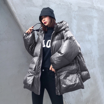 Winter Thick Women Jacket Cotton-padded Warm Girls Loose Fit Hooded Parka Female Winter Jacket Pockets Coat Short Style for Girl цена 2017