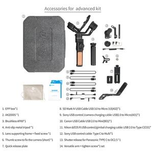 Image 5 - FeiyuTech AK2000S 3 assi gimble DSLR Camera Stabilizzatore Palmare Video Gimbal misura per DSLR Mirrorless Camera pk ak2000