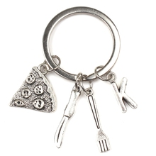 Pizza Slice Keychain, Pizza Charm Keychain, Pizza Charm, Best Friend Keychain, Gift for Friends, (A-Z) Personalized Keychain pizza slice ball pens 2 pack