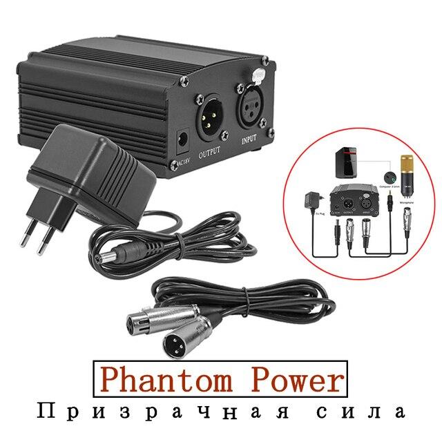 bm 800 Studio Microphone Phantom Power XLR Cannon Cable For bm800 Condenser microphone Karaoke Studio Mikrofon Phantom Power