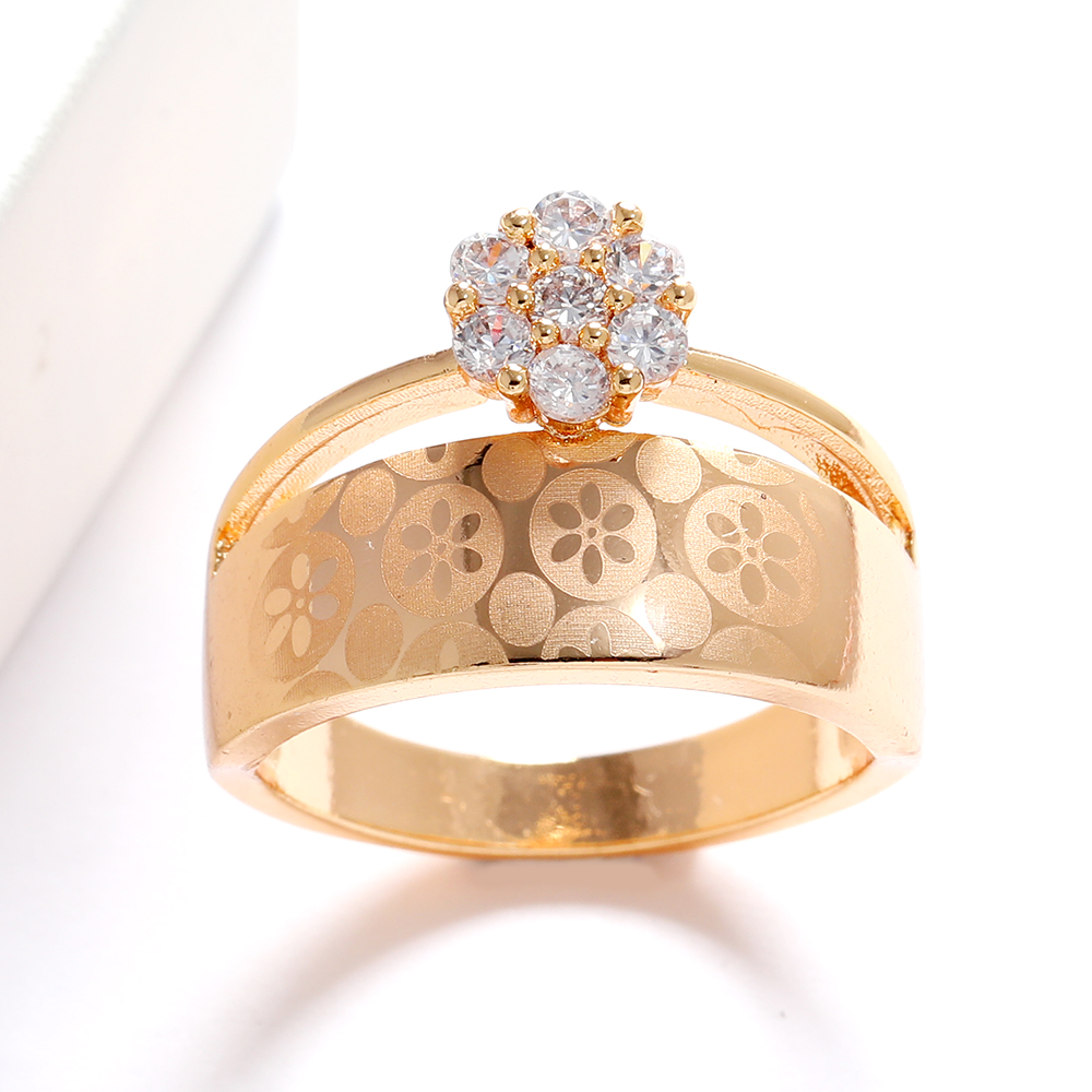 LUALA Shiny Clear Zircon Rose Gold Ring For Women Fashion Square Engagement Party Bride Wedding Luxury Jewelry Bijoux No Fade 6