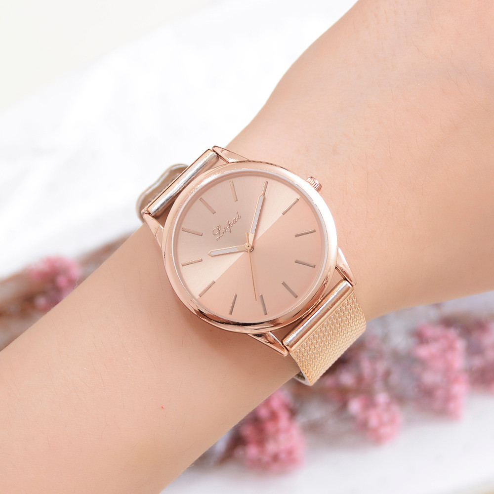 Lvpai Simple Romantic Creative Design Watch Women Casual Gold  Watch Analog WristWatch Luxury Montre Homme Reloj Mujer Clock Q