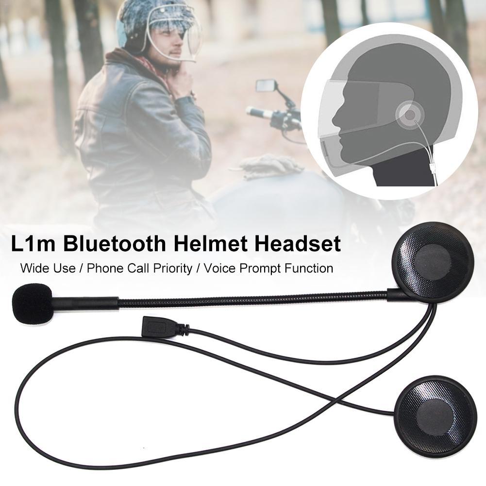 Intercom Moto L1M Ultra-thin Motorcycle Helmet Wireless Bluetooth Headset Earphone Helmet Speaker With Sponge Microphone
