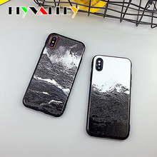 цена на For iPhone 11 Case Silicone Candy TPU Snow Mountain&Sea Wave Coque for iPhone 11 Pro Max 6S 6 7 8 Plus X XS Max XR Case Fundas