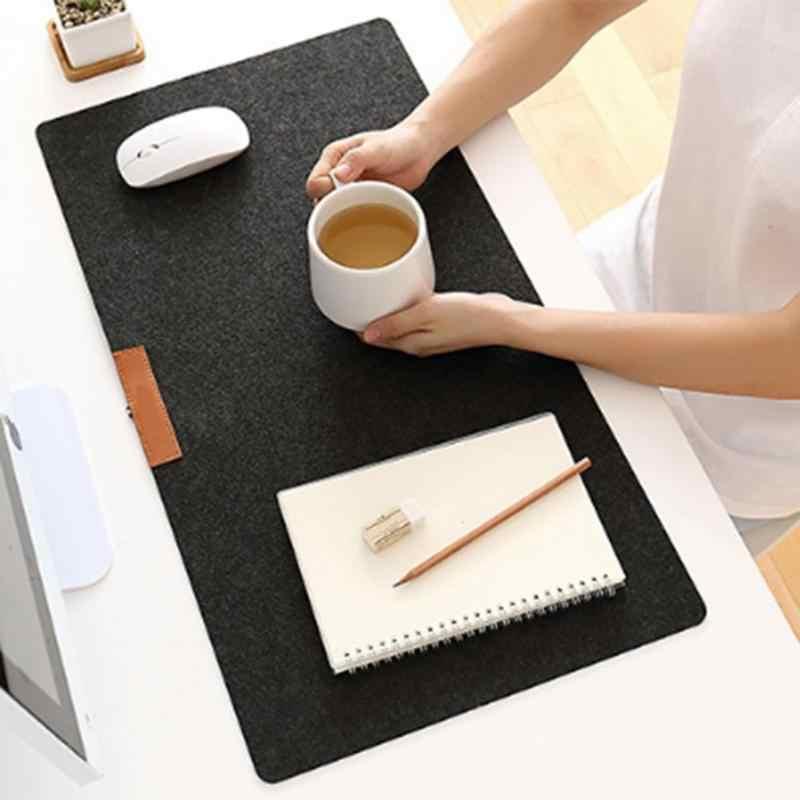 Besar Komputer Kantor Meja Tikar Meja Modern Keyboard Mouse Pad Wol Merasa Laptop Bantal Meja Tikar Gamer Mousepad Mat