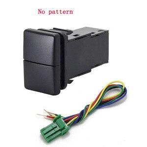 Image 3 - 1 adet çift anahtar anahtarı çift anahtarı sis işık kaydedici radar güç kaynağı gündüz çalışan ışık anahtarı düğme Toyota için yeni