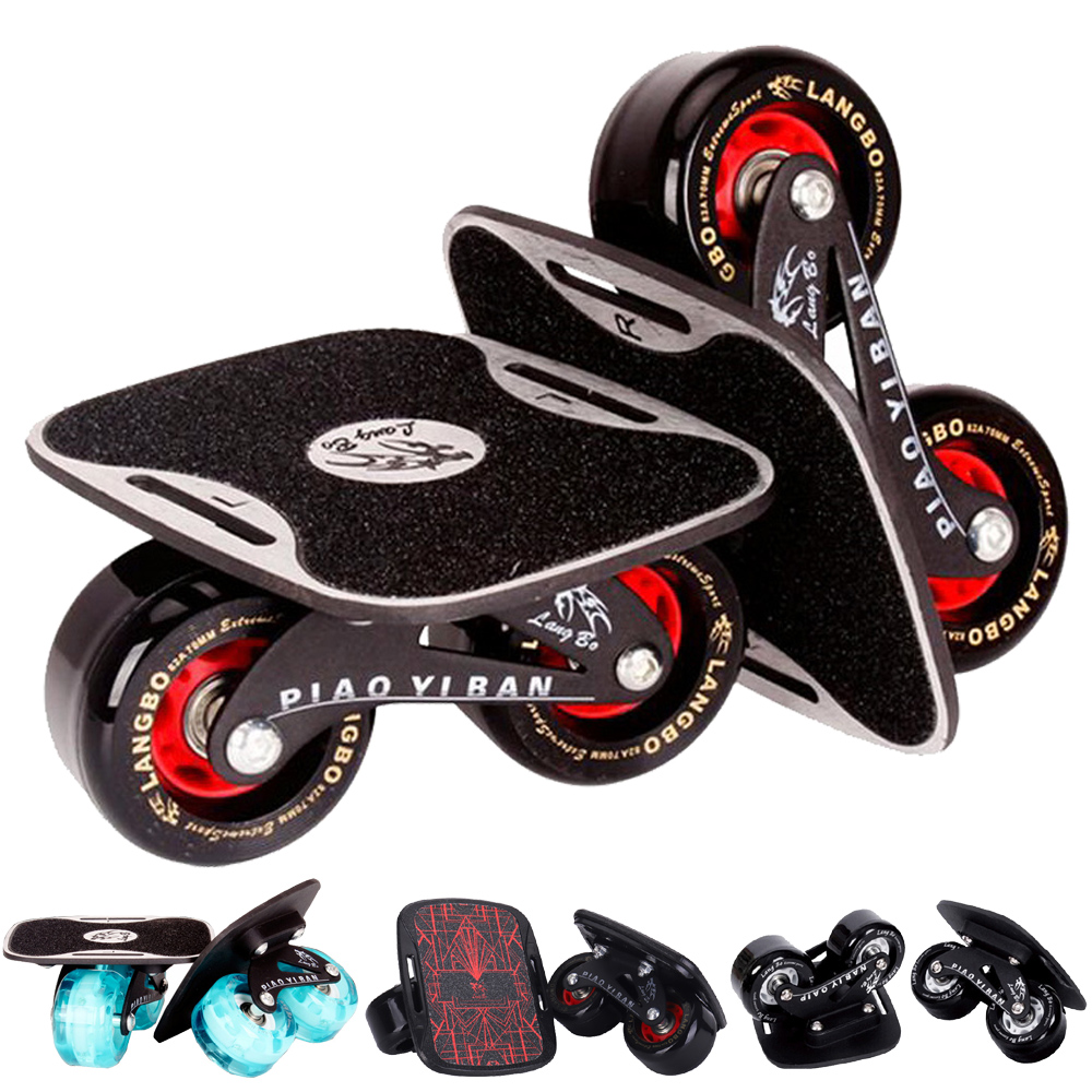 1 Pair Skateboard Aluminium Alloy Mini Drift Board Skate Fish Short Board Roller Skateboard Skate Board