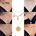Vintage Pendants Jewelry for Women Necklace On Neck Pearl Shell Necklace 2021 Fashion Women Gift to Girlfriend