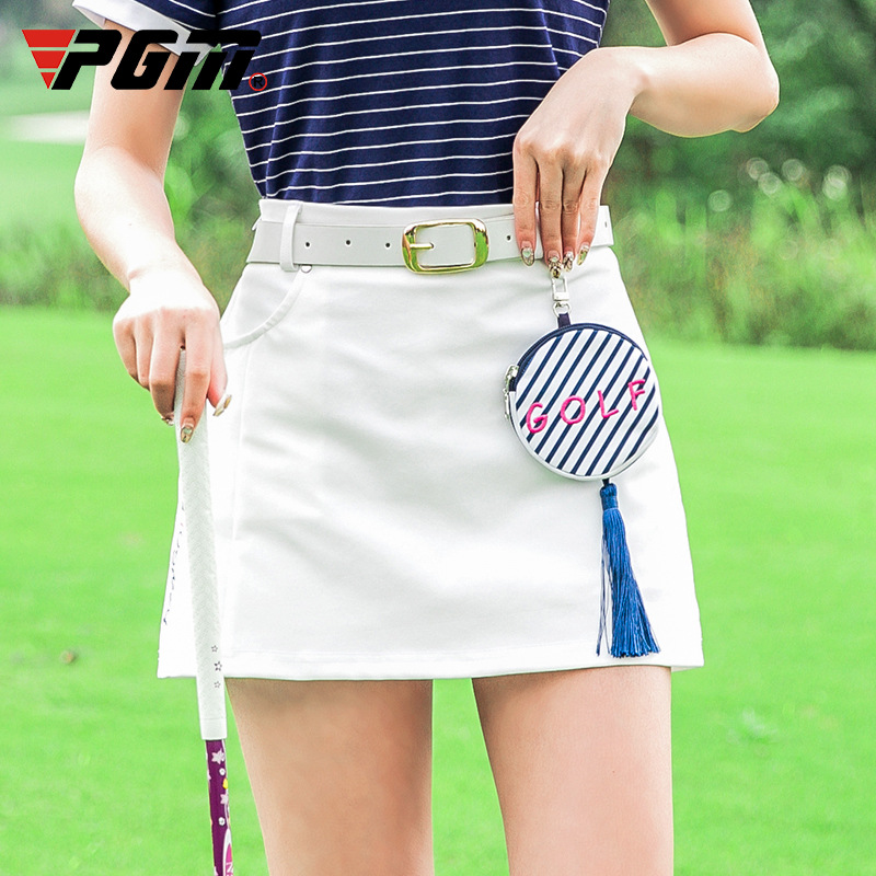PGM Golf Ladies Sports Short Skirt Summer Women's Skirt A-shaped Women's Skirt Anti-light Design qz048