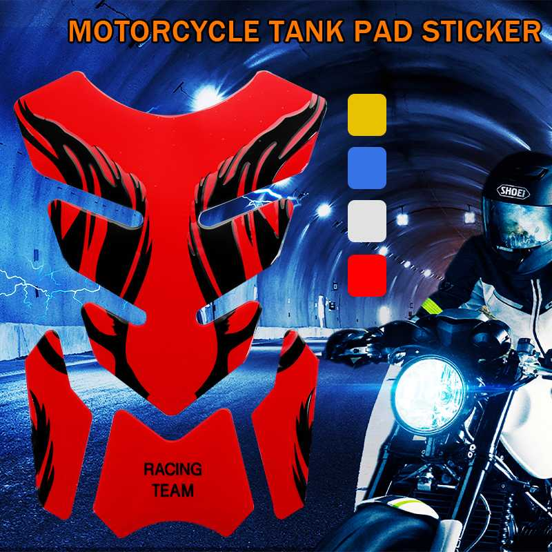 4 Colors Motorcycle Gas Tank Sticker Motorbike Fuel Oil Tank Pad Decal Sticker Protector Cover For Kawasaki For Honda image