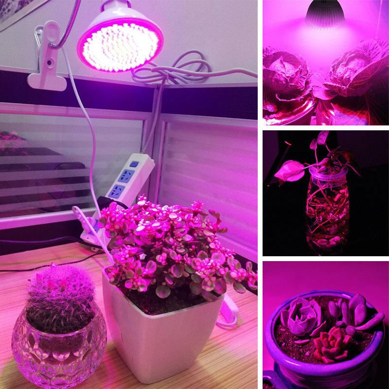 Plants Growth Light 360 Flexible Greenhouse Plant Indoor Hydroponic Plant Lamp Energy Saving 60LED 6W Flower Vegetables