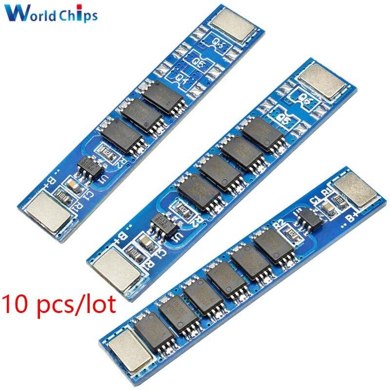 10 шт./лот BMS 1S 5A 10A 15A 3,7 V 3 MOS 4 MOS 5 MOS 18650, зарядная плата для литиевого аккумулятора 18650, зарядка