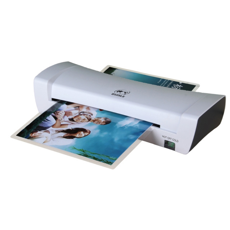 Professional Thermal Office Hot Cold Laminator Machine for A4 Document Photo Plastic Film Roll Laminating