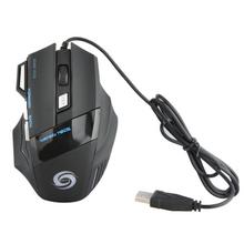 Przyciski USB 7 2400 DPI przewodowa myszka komputerowa dla graczy optyczna ergonomiczna ładowalna mysz na Pc Laptop uniwersalna mysz cheap centechia CN (pochodzenie) Przewodowy 150g Opto-elektroniczny Mini Palec Akumulator gaming mouse Prawo Support