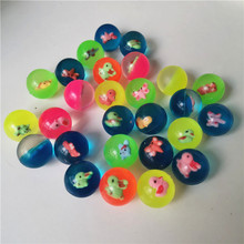 Rubber Bouncy balls child elastic Colorful Cartoon Ball Children of pinball bouncy toys for kids Outdoor Game 55mm 5pcs
