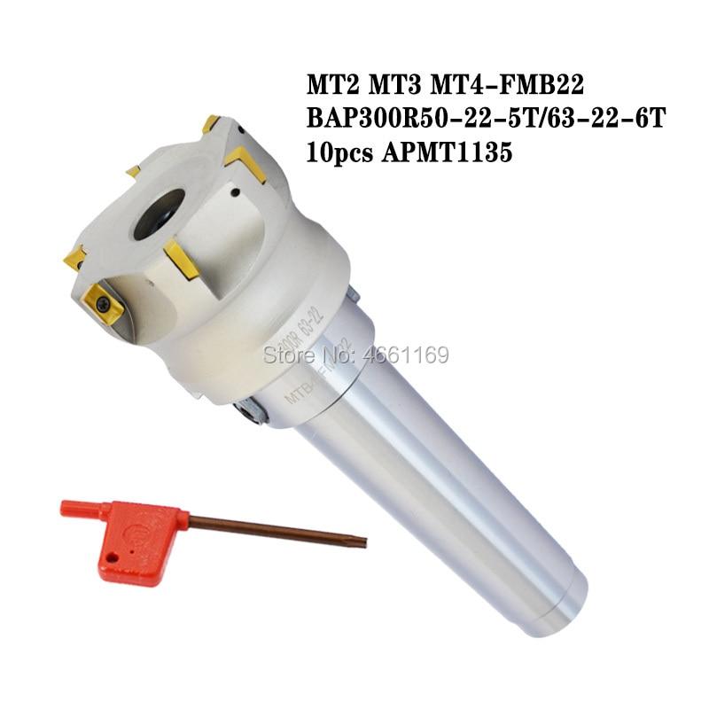 Купить держатель инструмента mt2 mt3 mt4 fmb22 + торцевая фреза bap300r50