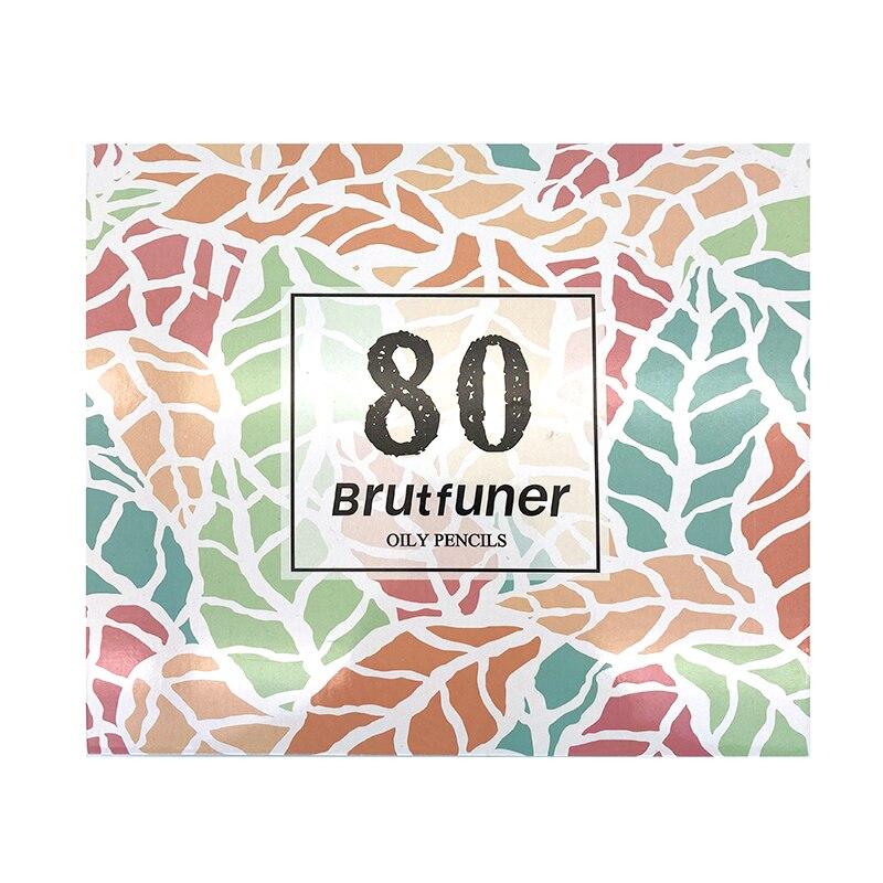 Brutfuner 80 цветов s масло HB цветные карандаши эскиз яркий цвет s нетоксичный цветной карандаш для рисования школьные студенческие товары для ру...