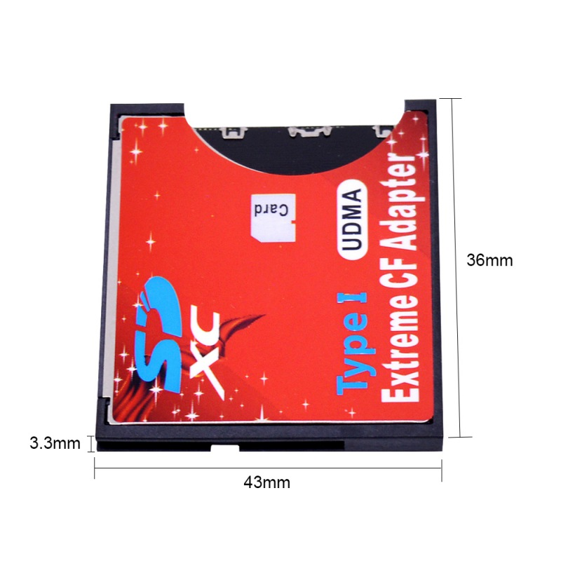 Compact Flash Type I Memory Card Reader Converter Professional SD To CF Card Adapter SDHC SDXC To 3.3mm Standard