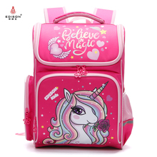 Edison School Bags Girl Large Capacity School Backpack Cartoon Car Knapsack Girl Backpack For School Space Bag