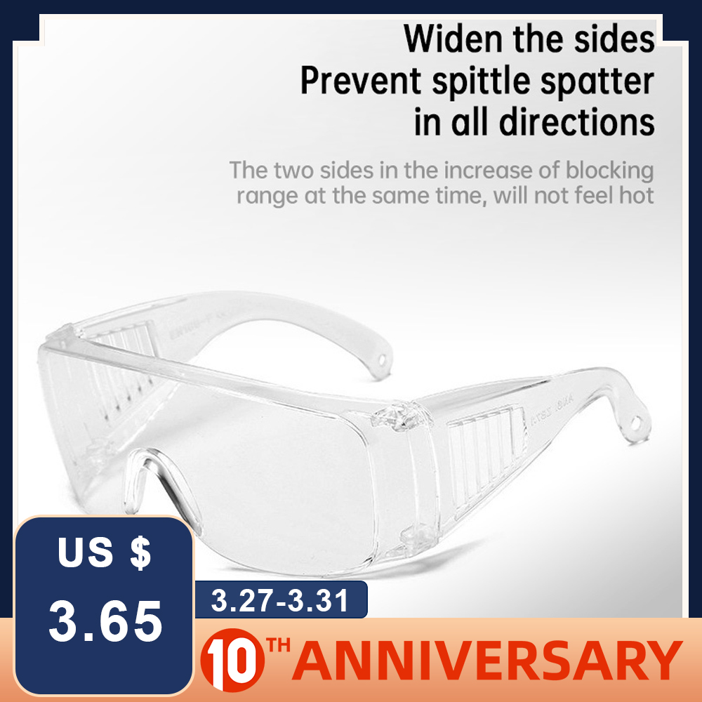 Safety Eye Protection Glasses Anti-spitting Splash Impact Resistance Multifunction Breathable Protection Adult Windproof Glasses