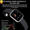 Высококачественные часы кровяного давления монитор сердечного ритма шагомер фитнес-трекер Водонепроницаемый сплав чехол Smartwatch для Android IOS