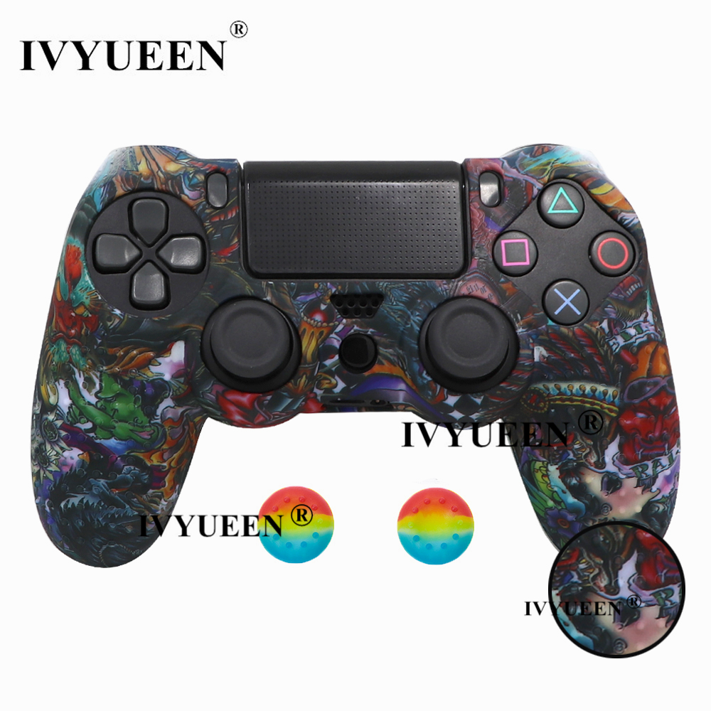 for PlayStation 4 ps4 Pro slim controller silicone case skin 25