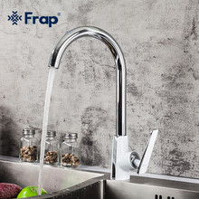 Frap Kitchen Taps Sink-Tap Mixer Deck-Mounted Chrome Single-Handle Hot-And-Cold-Water