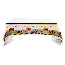 Tractor Tablecloths Birthday-Party-Decorations Construction Disposable Them Baby Shower
