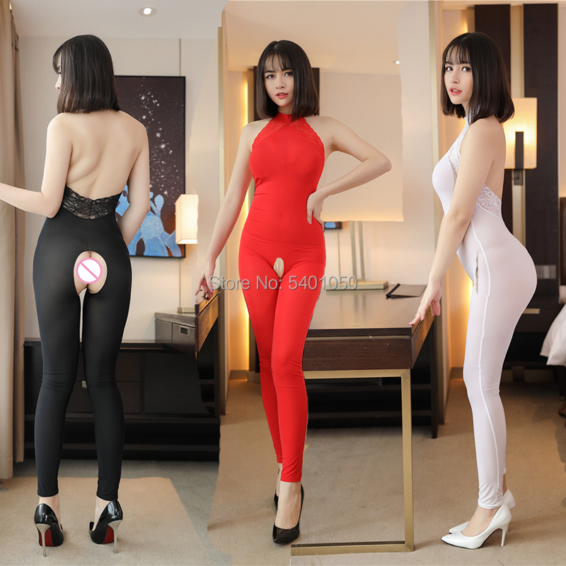 See Through Backless Jumpsuits Women Super Thin Bodysuit Hight Elastic Full-body Invisible Bodysuit Sexy Throught Long Bodysuit
