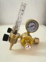 All copper double tube argon meter pressure reducer, double flow meter, argon meter, argon pressure meter, pressure reducing val