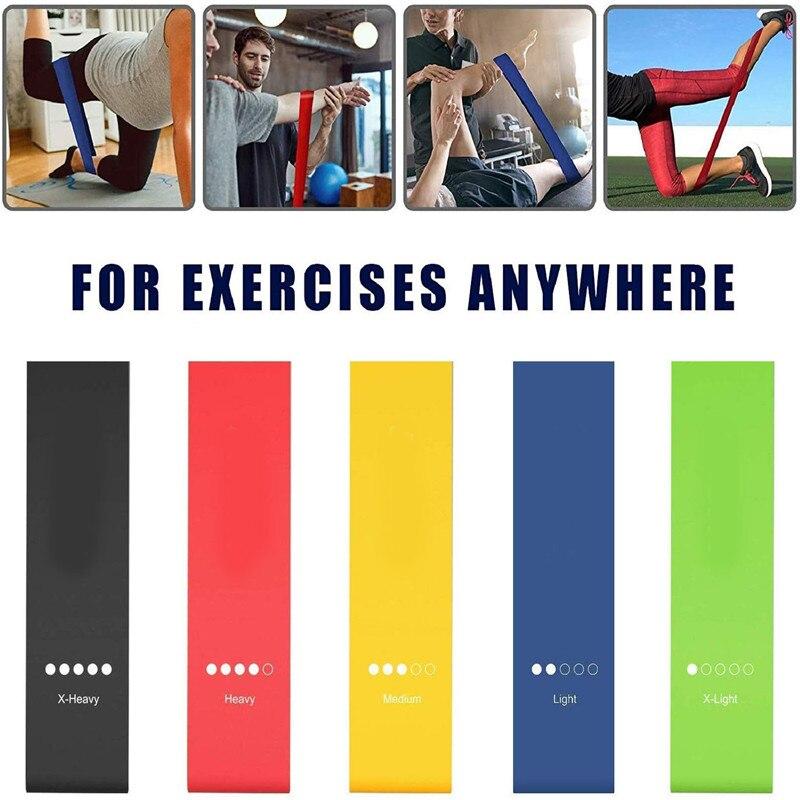 Bande di resistenza palestra esercizio forza allenamento fasce elastiche per Yoga Pilates Crossfit allenamento attrezzature per il Fitness