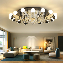 Nordic Living Room Crystal Ceiling Light led Round Ceiling Lamps Modern Decoration Crystal Lamp led Flush Mount Ceiling Lights flush mount led modern crystal ceiling lamp lights with 1 light for living room hallway lighting free shipping
