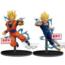 Tronzo Original Banpresto Dragon Ball Super Dokkan Battle Goku Majin Vegeta SSJ PVC Action Figure Collectible Model Doll Toys