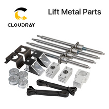 Cloudray motorizado para cima e para baixo mesa plataforma elevador peças de metal para co2 máquina de corte e gravura