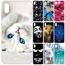 GUCOON Siliconen Cover voor Wiko Y80 5.99inch Case Soft TPU Beschermende Phone Case Cartoon Wolf Rose Bloemen Bumper shell(China)