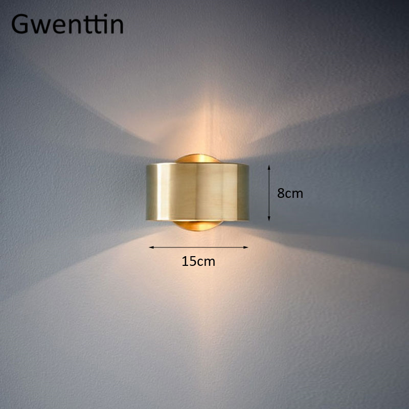 Image 5 - Modern Luxury Gold Wall Lamp Led Wall Sconce Light Fixtures Mirror Lights for Home Art Deco Loft Industrial Lamp Stair Luminaire-in LED Indoor Wall Lamps from Lights & Lighting
