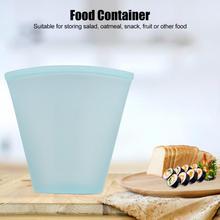 3 шт., силиконовая сумка для хранения еды в форме чашки, многоразовая сумка для хранения еды, контейнер для путешествий, пикника, контейнер для хранения еды