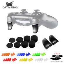 데이터 개구리 구부러진 L2 R2 버튼 트리거 플레이 스테이션 4 PS4/PS4 슬림/PS4 프로 게임 컨트롤러 액세서리 익스텐더 키트