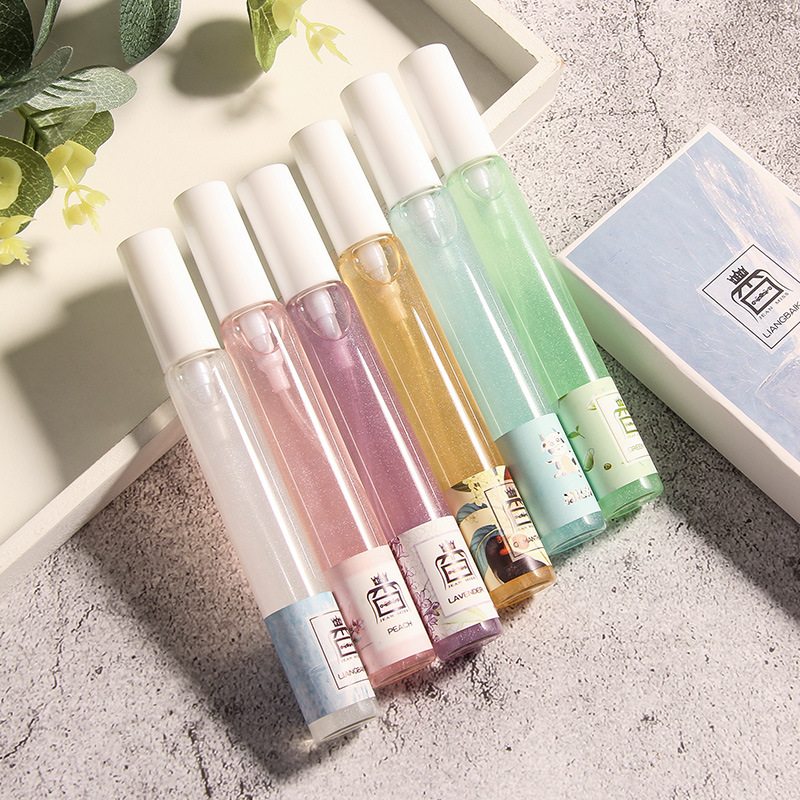 LANBENA 12ML Perfume Women Bottle Glass Fashion Lady Atomizer Quicksand Parfum Female Lasting Flower Fruit Fragrance With Box