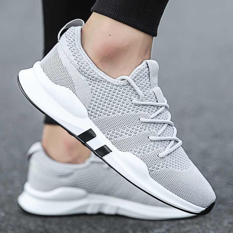 2019 รองเท้าผ้าใบแฟชั่น Breathable ผู้ชายรองเท้าบุรุษรองเท้ารองเท้าผ้าใบสีขาวสำหรับผู้ชาย LACE-Up Casual รองเท้าผู้ชาย Vulcanize รองเท้าชายรองเท้า