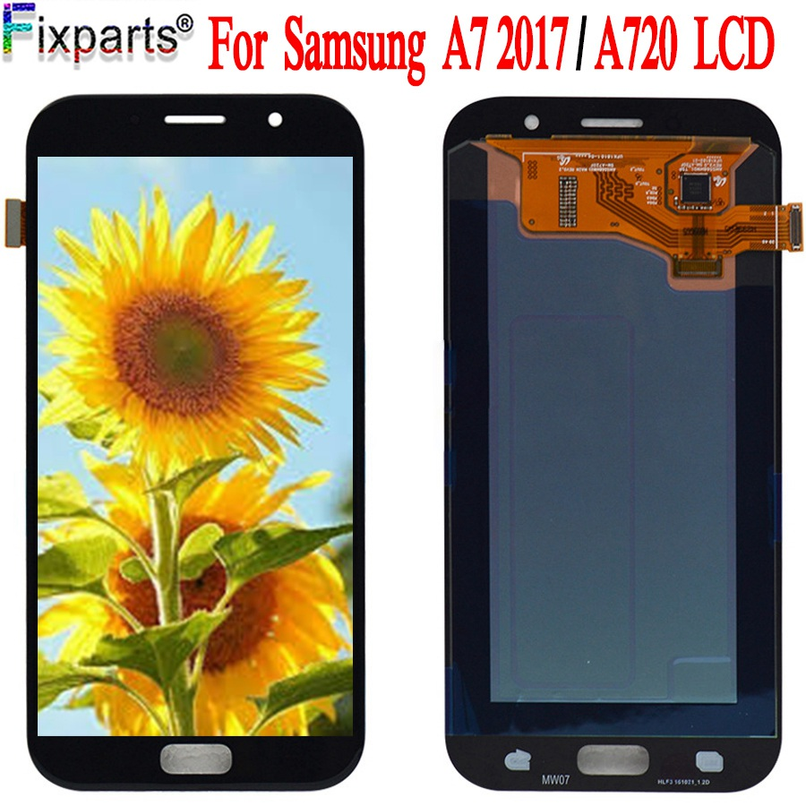 For <font><b>SAMSUNG</b></font> GALAXY A7 2017 <font><b>A720</b></font> A720F SM-A720F <font><b>LCD</b></font> Display Touch Screen Digitizer Assembly Replacement For 5.7