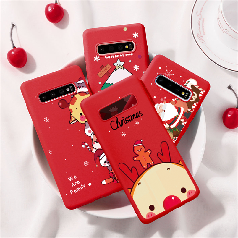 TPU Matte Merry Christmas Deer Case For <font><b>Samsung</b></font> Galaxy J4 J6 J8 A6 Plus A7 A8 <font><b>A9</b></font> 2018 J2 J3 J5 J7 Prime A3 A5 A7 2017 <font><b>2016</b></font> Cover image