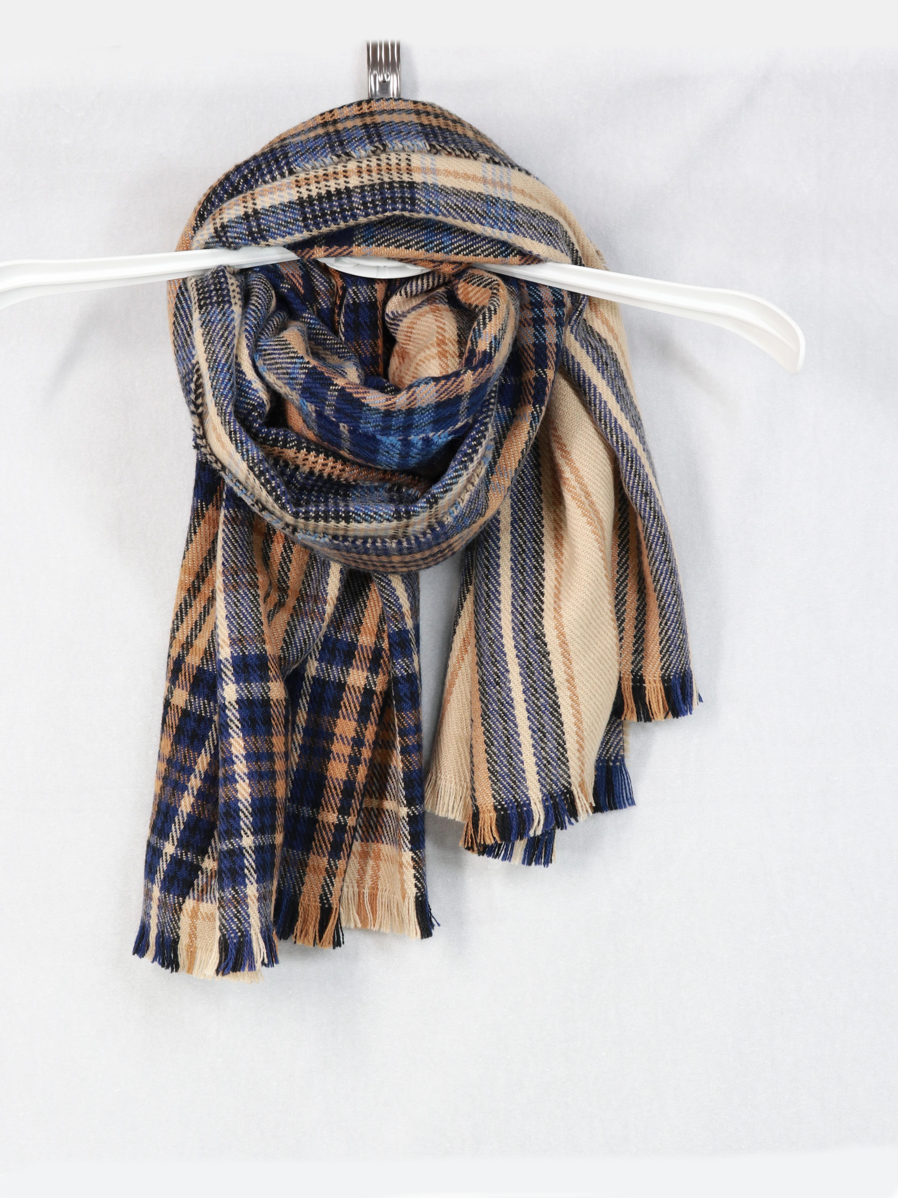 Новая зимняя кашемировая шаль шарф цветная сетка модный теплый шарф длинный шарф универсальный модный шарф