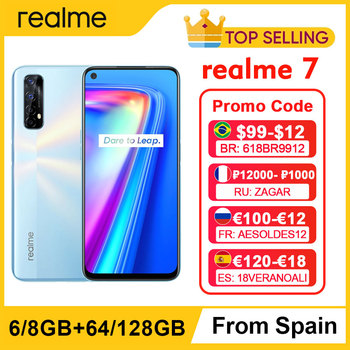 realme 7 NFC 6.5'' FHD+ 6/8GB 64/128GB 48MP Quad Cams Smartphone Helio G95 Octa Core 30W Dart Charge 5000mAh Mobile Phone