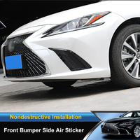 QHCP Car Front Bumper Side Air Vent Outlet Sticker Car Body Trims Cover Strip Exterior Accessories For Lexus ES200 260 300H 2018