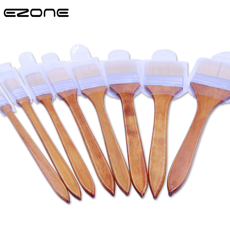 EZONE Bristle Painting Brush Wooden Handle Watercolor Painting Brush Learning DIY Oil Acrylic Painting Pen 8 Different Size