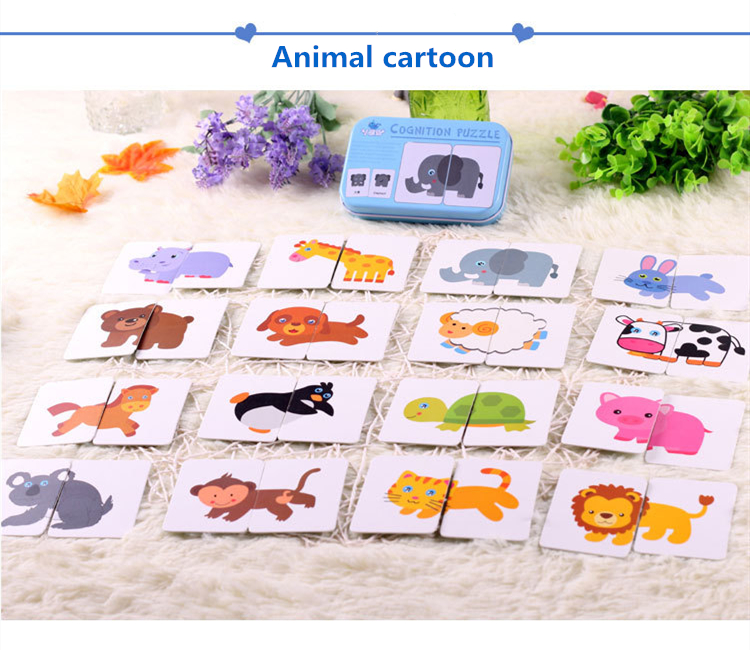 Kids Baby Cognitive Cards Montessori Materials Fun English Word Pocket Flash Card Early Educational Toys Baby Training Cards